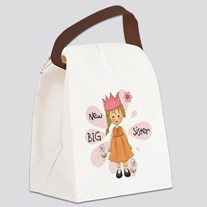 Blond Princess Big Sister Canvas Lunch Bag