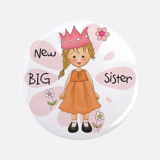 "Blond Princess Big Sister 3.5"" Button"