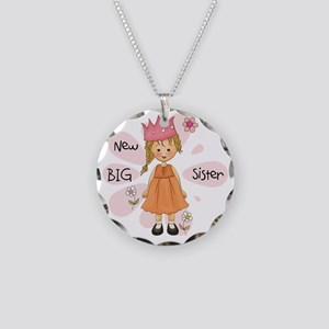 Blond Princess Big Sister Necklace Circle Charm
