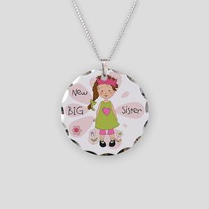 Brown Hair Princess Big Sist Necklace Circle Charm