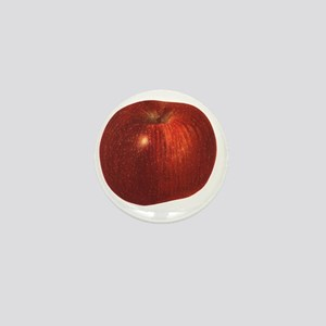 Vintage Food, Red Delicious Organic Ap Mini Button