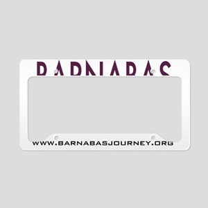 Barnabas Logo with Web License Plate Holder