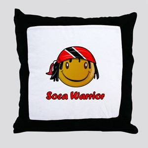 soca warrior Throw Pillow