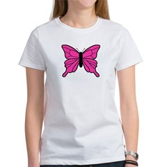 Pink Butterfly Women's T-Shirt