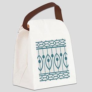 Trendy Modern Morocan Pattern Canvas Lunch Bag