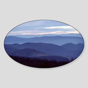 Blue Ridge Sticker (Oval)