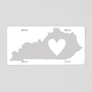 Heart Kentucky state silhou Aluminum License Plate