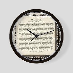 Olde Goth Design Desiderata Poem Wall Clock