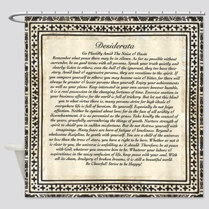 Olde Goth Design Desiderata Poem Shower Curtain