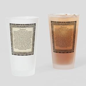 Olde Goth Design Desiderata Poem Drinking Glass