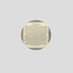 Olde Goth Design Desiderata Poem Mini Button
