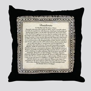 Olde Goth Design Desiderata Poem Throw Pillow
