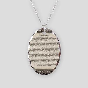 Olde Goth Design Desiderata Po Necklace Oval Charm