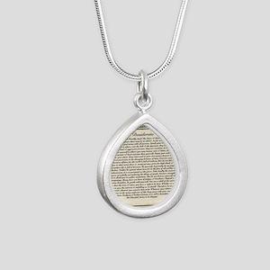 Olde Goth Design Desider Silver Teardrop Necklace