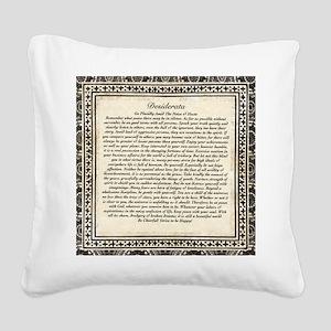 Olde Goth Design Desiderata P Square Canvas Pillow