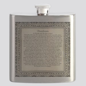 Olde Goth Design Desiderata Poem Flask