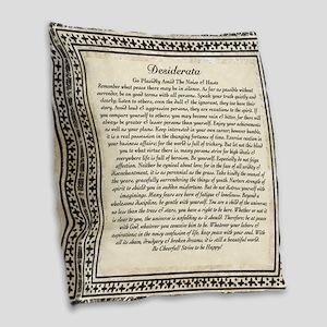 Olde Goth Design Desiderata Po Burlap Throw Pillow