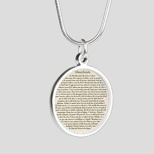 Olde Goth Design Desiderata  Silver Round Necklace