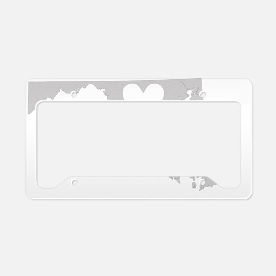 Heart Maryland state silhouet License Plate Holder