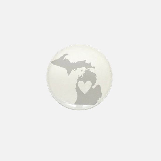 Heart Michigan state silhouette Mini Button