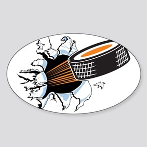 Hockey Sticker (Oval)
