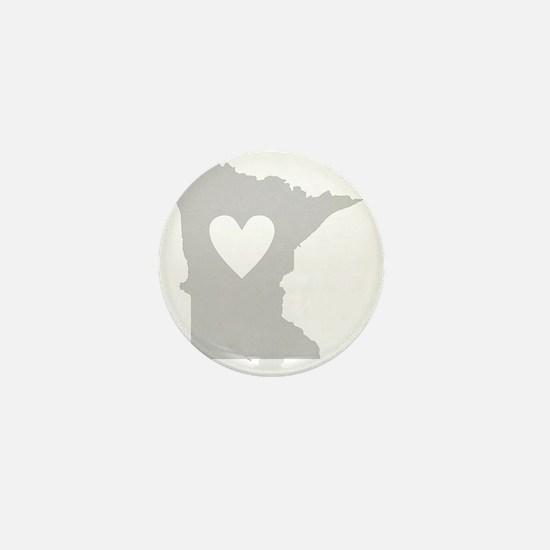 Heart Minnesota state silhouette Mini Button