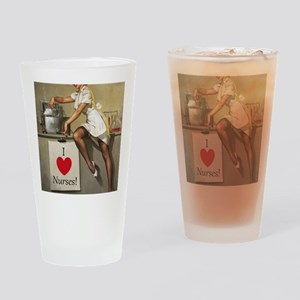 Nifty Nurse Drinking Glass