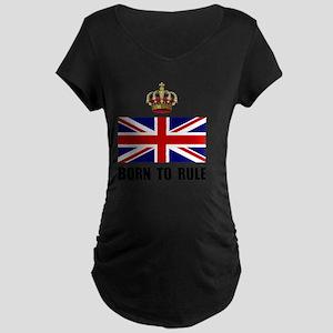 Royal Crown Rule Maternity Dark T-Shirt