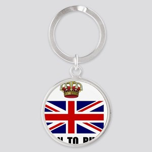 Royal Crown Rule Round Keychain
