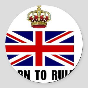 Royal Crown Rule Round Car Magnet