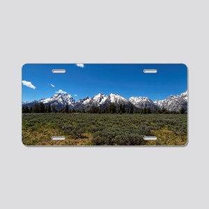 Grand Teton Scenic View Aluminum License Plate