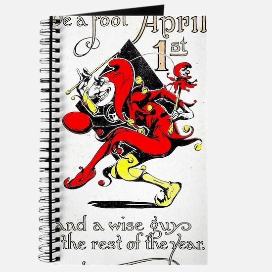 Vintage Jester Fool April Fools Day April  Journal