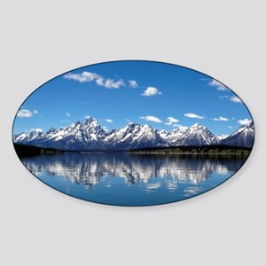 GRAND TETON - JACKSON LAKE Sticker (Oval)