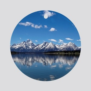 GRAND TETON - JACKSON LAKE Round Ornament