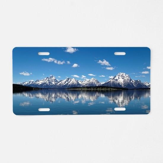 GRAND TETON - JACKSON LAKE Aluminum License Plate