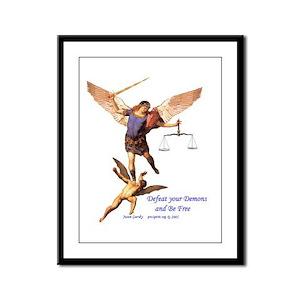 Archangel Michael - 1 - Framed Panel Print