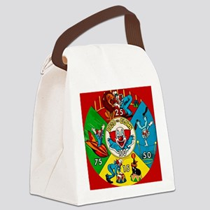 Vintage Toy Clown Cartoon Target  Canvas Lunch Bag