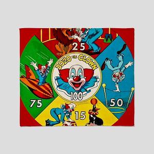 Vintage Toy Clown Cartoon Target Gam Throw Blanket