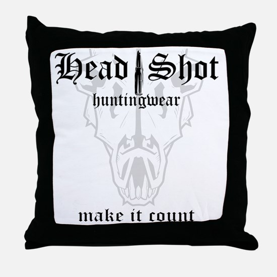 HeadShot HuntingWear Make it Count Throw Pillow