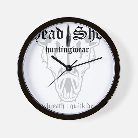 HeadShot Huntingwear Deep Breath Wall Clock