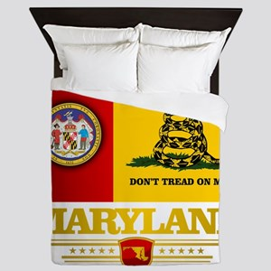 Maryland Gadsden Flag Queen Duvet