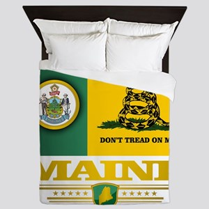 Maine Gadsden Flag Queen Duvet