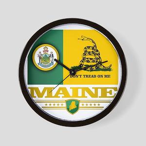 Maine Gadsden Flag Wall Clock