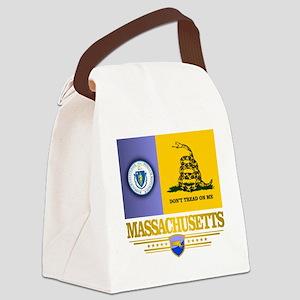 Massachusetts Gadsden Flag Canvas Lunch Bag