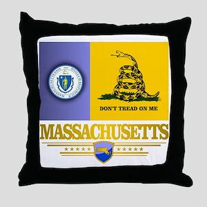 Massachusetts Gadsden Flag Throw Pillow