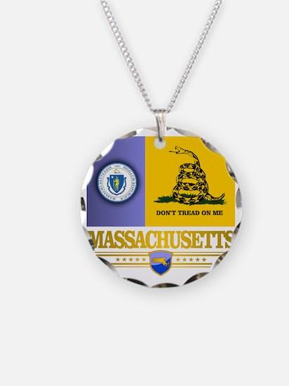 Massachusetts Gadsden Flag Necklace