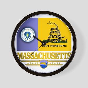 Massachusetts Gadsden Flag Wall Clock