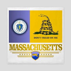 Massachusetts Gadsden Flag Queen Duvet