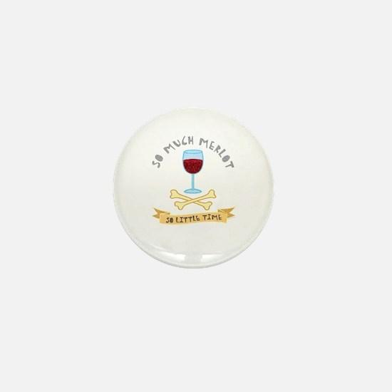 Merlot Wine Taster Mini Button