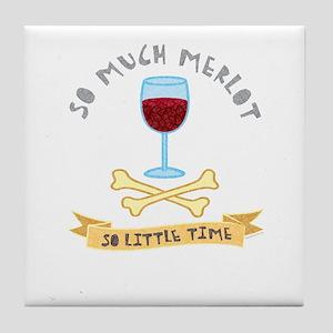 Merlot Wine Taster Tile Coaster